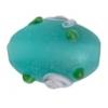 "Glass Bead Oval 10x15mm 8""strg Blue Zircon Matt"
